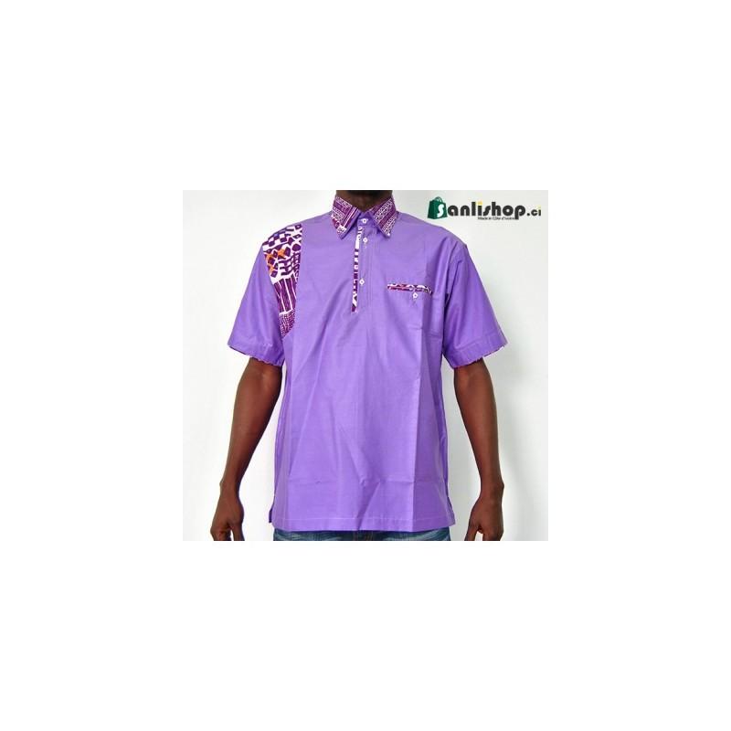 Chemise homme LENE K - violet