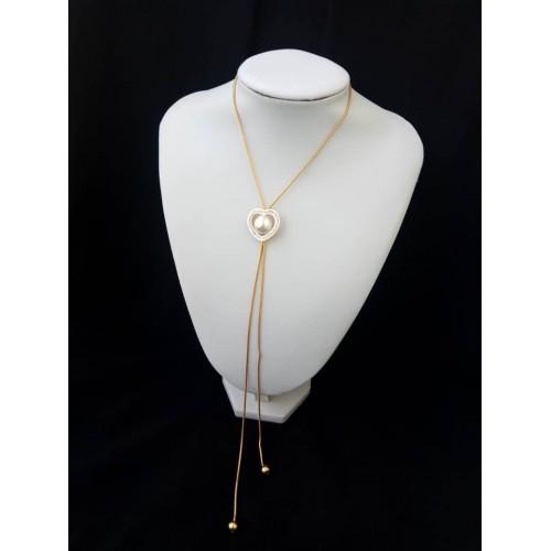 Chaine en or plaqué et perle