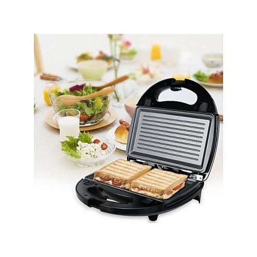 iLUX Appareil à Croque-Monsieur (Sandwich Maker) - LX-SM206 - 750W - Noir