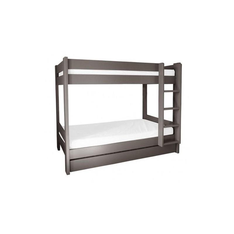 lit superpos 2 niveaux 2 places en haut sur 2 places en bas. Black Bedroom Furniture Sets. Home Design Ideas
