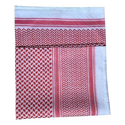 Turban musulman rouge et blanc