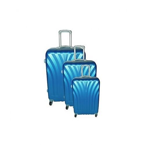 Valise En Polypropylène Imperméable - Kit Complet De 3 - Grand / Moyen / Petit - bleu