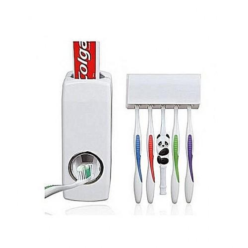 Distributeur Automatique De Dentifrice Avec Support De Brosse À Dents