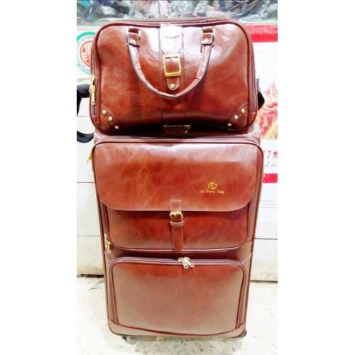 Valise marron  Imperméable - Kit Complet De 3 - Grand / Moyen / Petit bonus sac de voyage