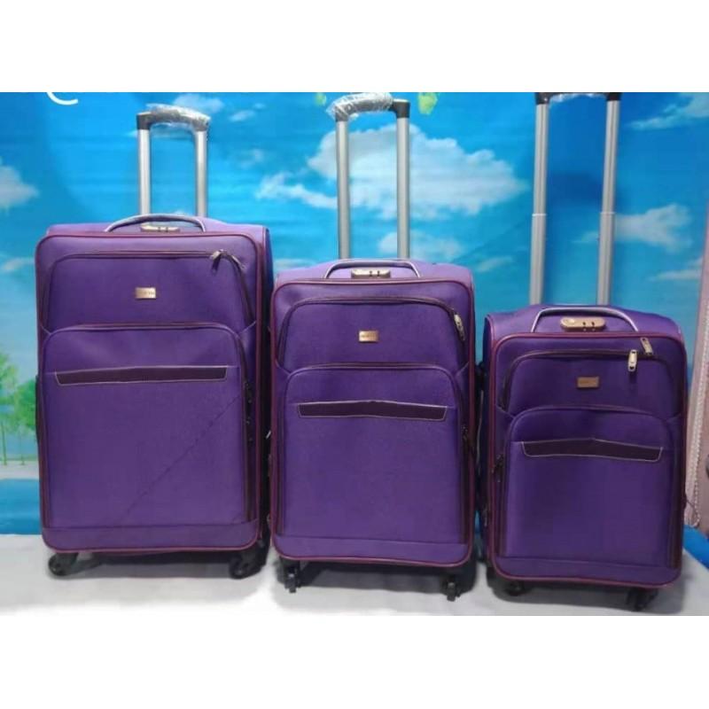 Ensemble De 3 Valises - Petite/Moyenne/Grande - violet - Ultra Résistant