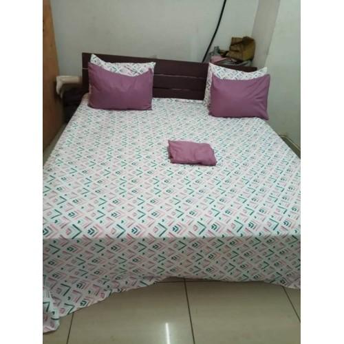 Drap double 2 places avec 2 oreillers
