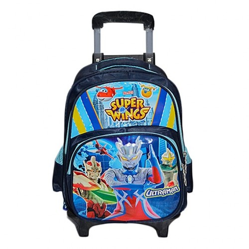 Sac D'Ecole Trolley Super Wings - Bleu