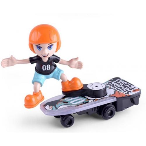 4Desire Cartoon Scooter électrique Stunt Skateboard Plaque Coulissante Bump & Go Omni-directionnel Avec Lumière & Musique