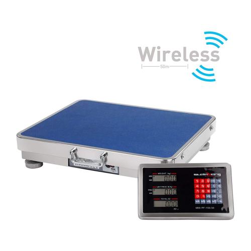 Balance Plateforme Balance Industrielle (150 kg / 20 g, Surface de Pesée 40 x 50cm, Écran LCD) Sans Fil