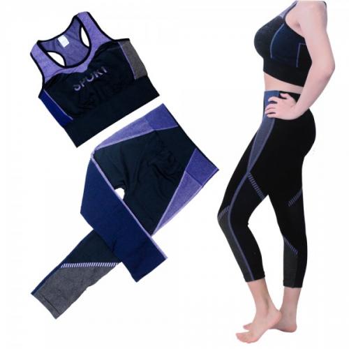 Pantalon - Ensemble de vêtements Minceur de sport Fitness et Yoga 2 pièces pour femmes,