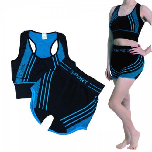 Culotte - Ensemble de vêtements Minceur de sport Fitness et Yoga 2 pièces pour femmes,