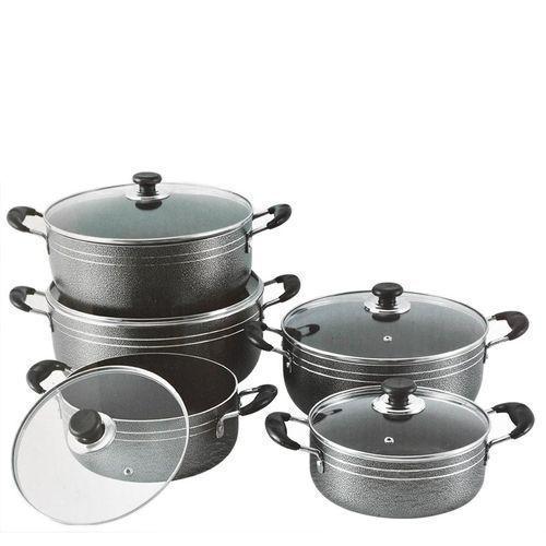 Kitchen Set Set 5 Casseroles Vitrées En Acier Inoxydable Seemann 20Cm/22Cm/24Cm/28Cm/30cm - Gris