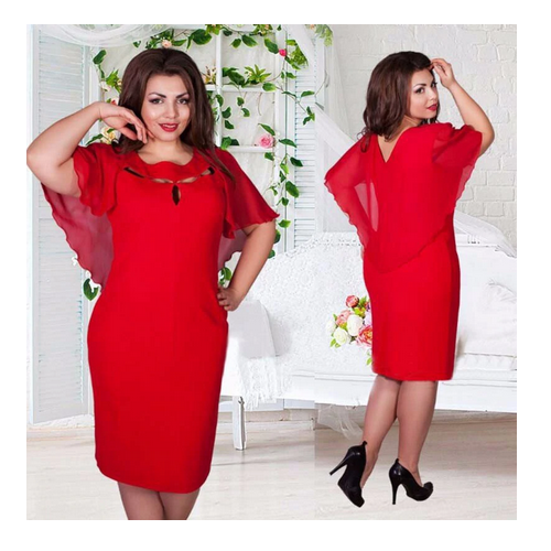 ROBE FEMME ROUGE - Taille XXXL