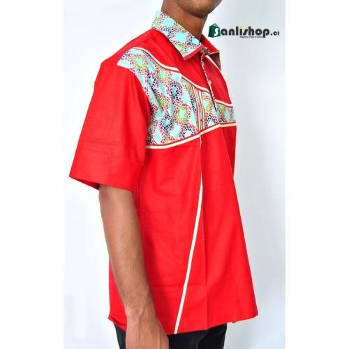 Chemise homme LENE K -rouge