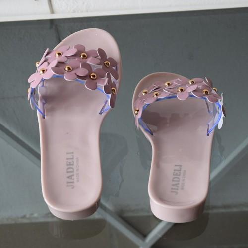 Sandales fleurs - rose