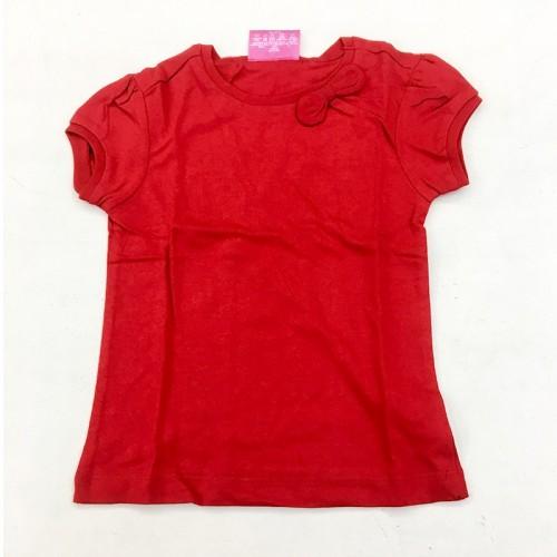T-Shirt Rouge Avec Nœud