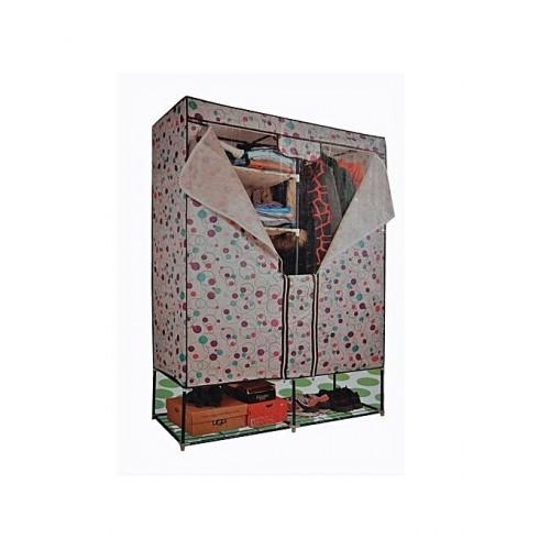 Armoire Démontable Mobile 2 Penderies avec espace de chaussure - Multicolore