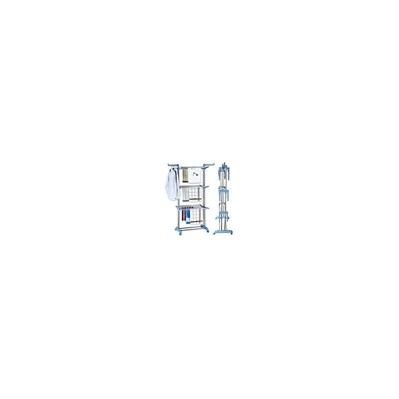 Séchoir Multifonctions Inox - 3 Niveaux Avec Roues
