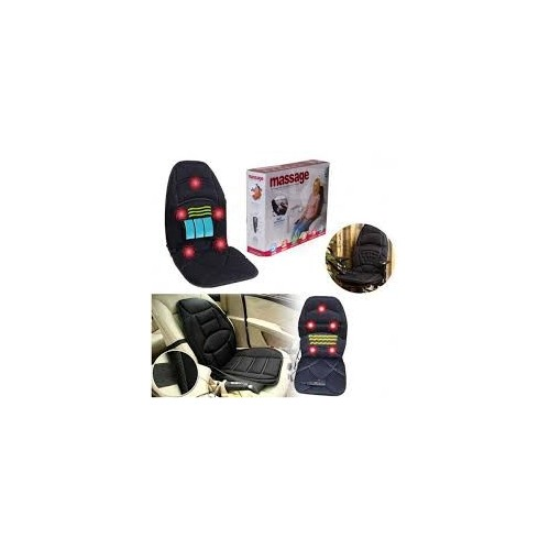 Siège de massage auto / bureau / maison - 12 V - 55W - Noir