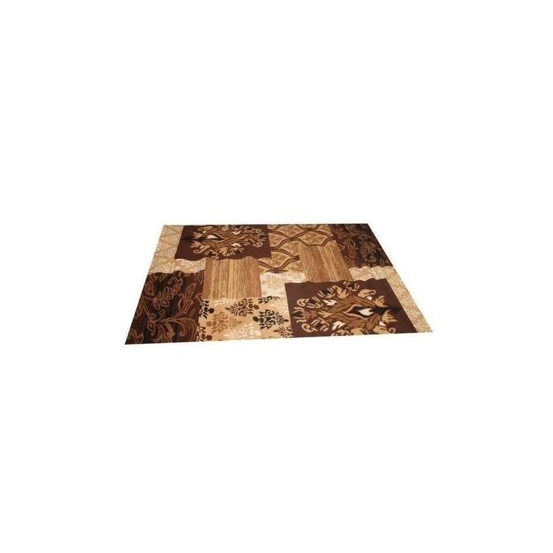 tapis marocain taille 190 \\133 COULEUR marron\\ beige