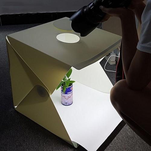 Studio De Photographie Portatif Pliable - Blanc