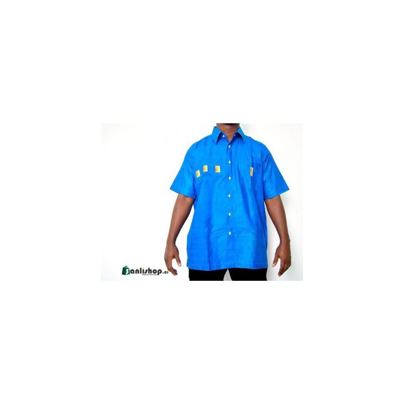 Chemise homme LENE K - bleu